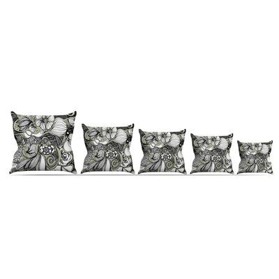 Doodle Dos by Anchobee Throw Pillow Size: 16