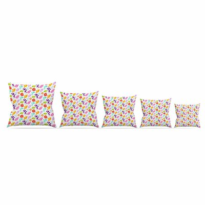Iris by Anchobee Throw Pillow Size: 16