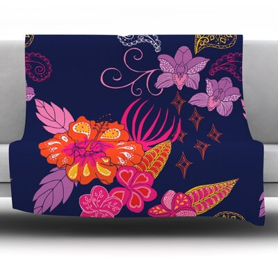 Tropical Paradise by Anneline Sophia Fleece Throw Blanket Size: 60 L x 50 W