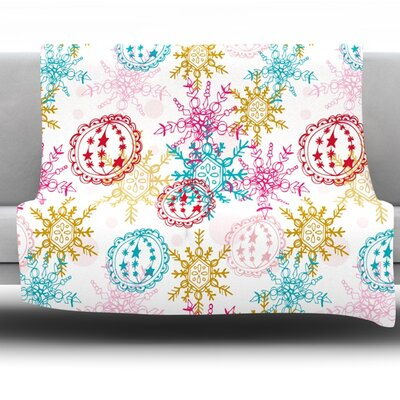 Let It Snow by Anneline Sophia Fleece Throw Blanket Size: 60 L x 50 W