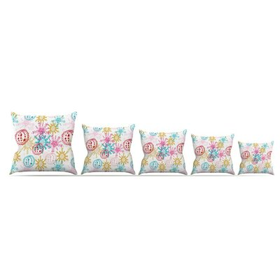 Let It Snow by Anneline Sophia Throw Pillow Size: 16 x 16