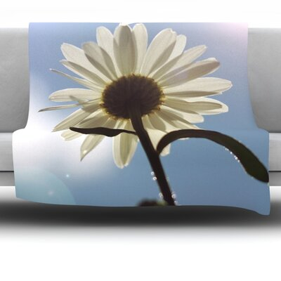 Daisy Bottom by Angie Turner Fleece Throw Blanket Size: 40 L x 30 W