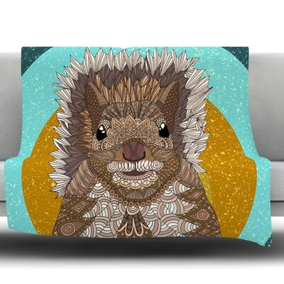 Squirrel by Art Love Passion Fleece Throw Blanket
