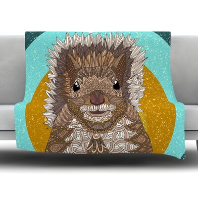 Squirrel by Art Love Passion Fleece Throw Blanket Size: 60 L x 50 W