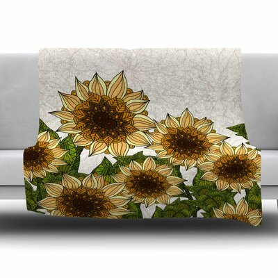 Sunflower Field by Art Love Passion Fleece Throw Blanket Size: 40 L x 30 W