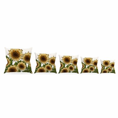 Sunflower Field by Art Love Passion Throw Pillow Size: 18 x 18