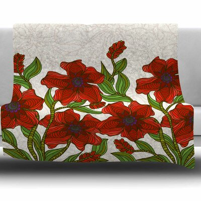 Poppy Field by Art Love Passion Fleece Throw Blanket Size: 60 L x 50 W