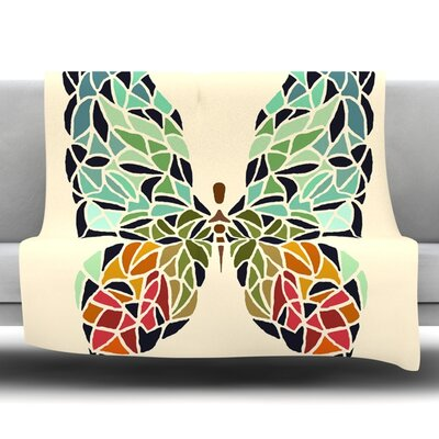 Butterfly by Art Love Passion Fleece Throw Blanket Size: 40 L x 30 W