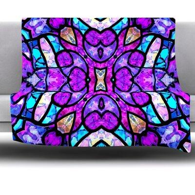 Kaleidoscope Dream by Art Love Passion 40 Fleece Throw Blanket Size: 80 x 60