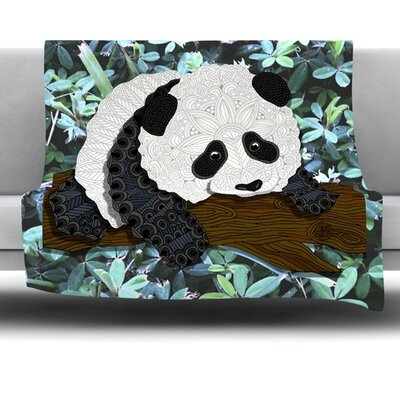 Panda by Art Love Passion Fleece Throw Blanket Size: 80 x 60