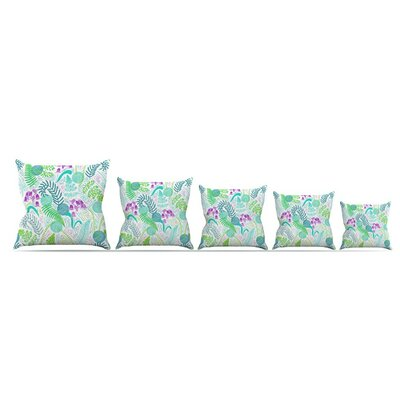 Fern Forest by Anneline Sophia Throw Pillow Size: 16 x 16