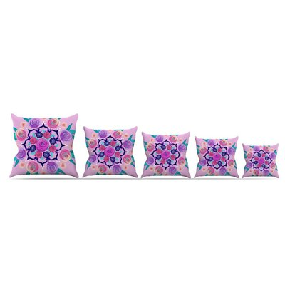 Expressive Blooms Mandala by Anneline Sophia Throw Pillow Size: 26 x 26