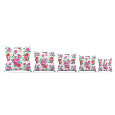 Roses by Anneline Sophia Throw Pillow Size: 26 x 26