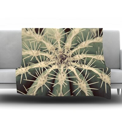 Cactus by Angie Turner Fleece Throw Blanket Size: 40 L x 30 W