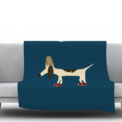 Chien by Bri Buckley Fleece Throw Blanket Size: 40 L x 30 W