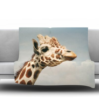Giraffe by Angie Turner Fleece Throw Blanket Size: 60 L x 50 W