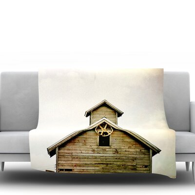 Barn Top by Angie Turner Fleece Throw Blanket Size: 80 L x 60 W