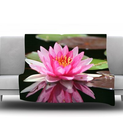 Water Lily by Angie Turner Fleece Throw Blanket Size: 60 L x 50 W