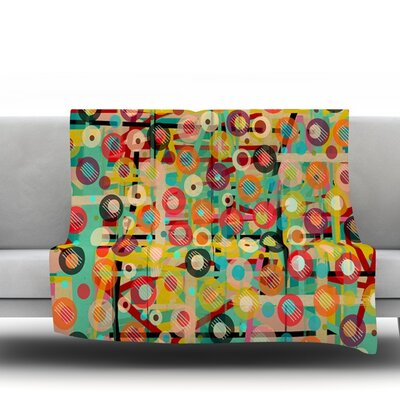 Gift Wrapped by Bri Buckley Fleece Throw Blanket Size: 60 L x 50 W