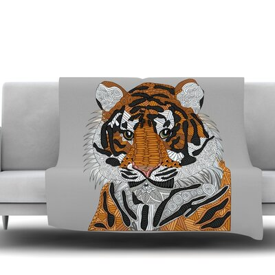 Tiger by Art Love Passion Fleece Throw Blanket Size: 40 L x 30 W