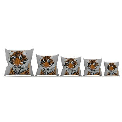 Tiger by Art Love Passion Throw Pillow Size: 18 x 18