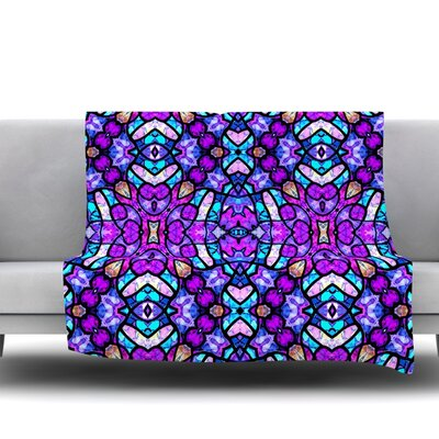 Kaleidoscope Dream Continued by Art Love Passion Fleece Throw Blanket Size: 60 L x 50 W