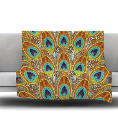 Peacock by Art Love Passion Fleece Throw Blanket Size: 80 L x 60 W