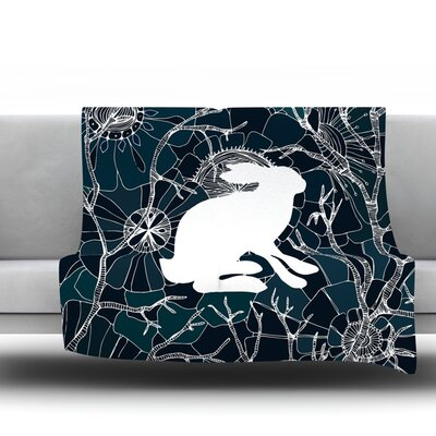 Hare by Anchobee Fleece Throw Blanket Size: 60 L x 50 W