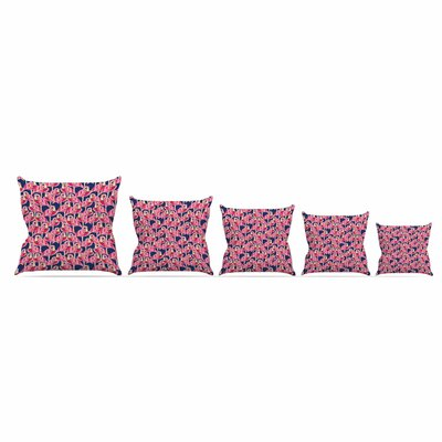 Flamingo by Amy Reber Throw Pillow Size: 16 x 16