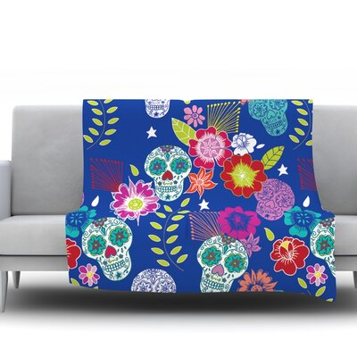 Day Of The Dead by Anneline Sophia Fleece Throw Blanket Size: 40 L x 30 W