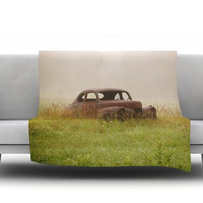 Forgotten Car by Angie Turner Fleece Throw Blanket Size: 40