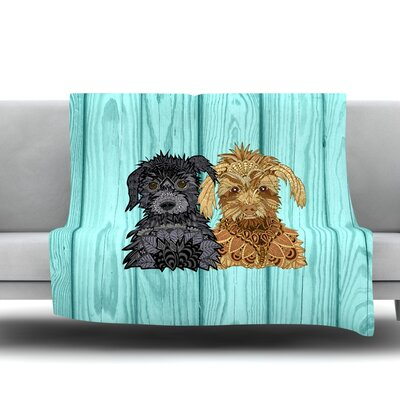 Daisy And Gatsby by Art Love Passion Fleece Throw Blanket Size: 40 L x 30 W