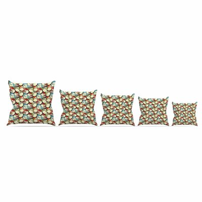 Chickadees by Amy Reber Throw Pillow Size: 18 x 18