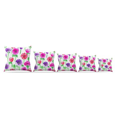 Anemones by Anneline Sophia Throw Pillow Size: 26 x 26