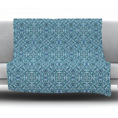 Ocean by Allison Soupcoff Fleece Throw Blanket Size: 80 L x 60 W