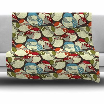 Chickadees by Amy Reber Fleece Throw Blanket Size: 40 L x 30 W
