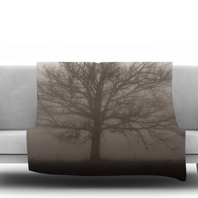 Lonely Tree by Angie Turner Fleece Throw Blanket Size: 40 L x 30 W