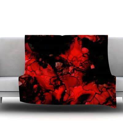 Vesuvius by Claire Day Fleece Throw Blanket Size: 60 L x 50 W