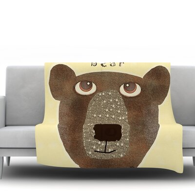 Bear by Bri Buckley Fleece Throw Blanket Size: 80 L x 60 W
