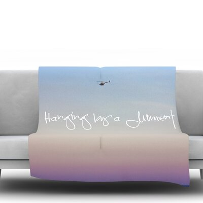 Hanging by A Moment by Beth Engel Fleece Throw Blanket Size: 60 L x 50 W