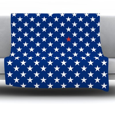 Star by Bruce Stanfield Fleece Throw Blanket Size: 60 L x 50 W