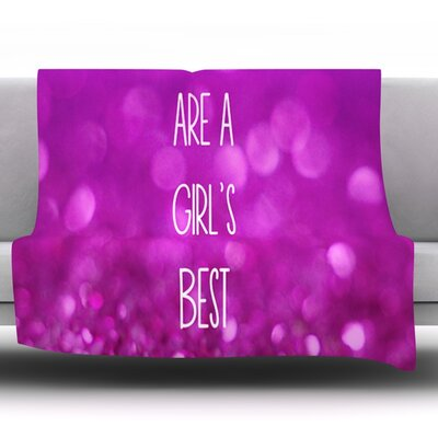 Sparkles Are A Girls Best Friend by Beth Engel Fleece Throw Blanket Size: 60 x 50