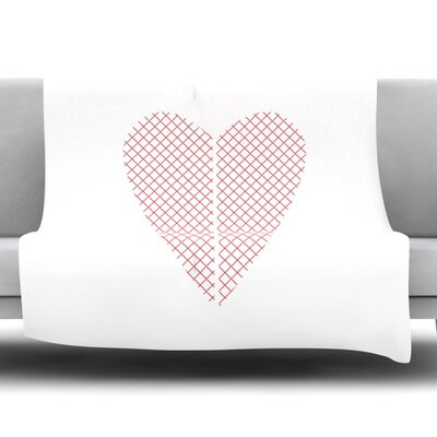 Cross My Heart by Belinda Gillies Fleece Throw Blanket Size: 80 x 60