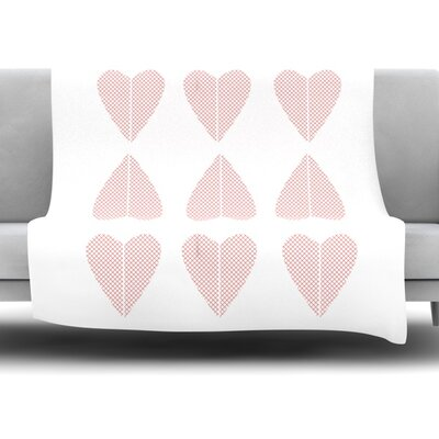 Cross My Heart Multiple by Belinda Gillies Fleece Throw Blanket Size: 60 x 50