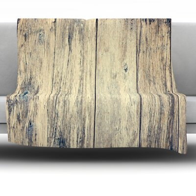 Wood Photography II by Beth Engel Fleece Throw Blanket Size: 40 x 30