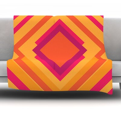 Diamond Dayze by Belinda Gillies Fleece Throw Blanket Size: 60 x 50