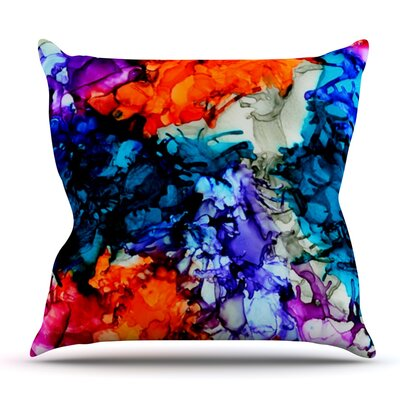 Evanescence by Claire Day Throw Pillow Size: 26 x 26