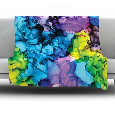 Mermaids by Claire Day Fleece Throw Blanket Size: 80 L x 60 W