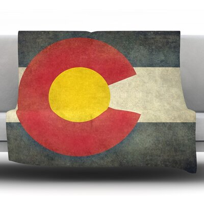 State Flag Of Colorado by Bruce Stanfield Fleece Throw Blanket Size: 80 L x 60 W