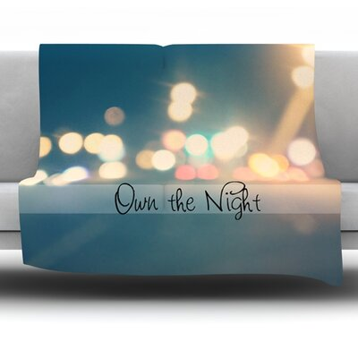 Own The Night by Beth Engel Fleece Throw Blanket Size: 60 x 50